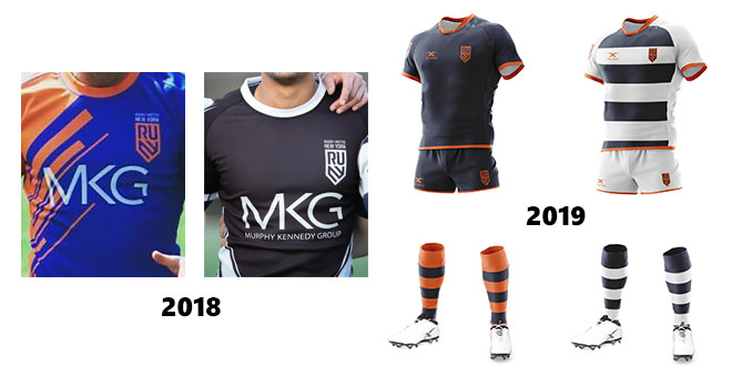 89662fe0289 A dark navy kit with orange hooped socks is preferred at home with a simple  hooped white strip for away